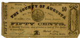 Confederate currency, Augusta County, Virginia, 1862