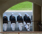 """A Day in the Life of a VMI Cadet , 2011"".  Exhibit photographs."