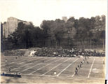 """First kickoff on Alumni Field"", 1921."