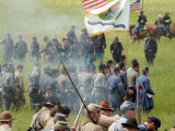 Reenactment of the 150th anniversary of the Battle of New Market, May 2014